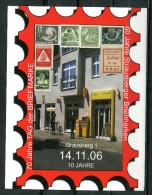 "Germany 2006 dekorative Sonderkarte Tag der Briefmarke mit ATM Mi.Nr.5 u.TStp ""Strausberg .""1 Beleg"