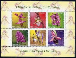 ROMANIA 2007 Wild Orchids Block MNH / **.  Michel Block 394 - 1948-.... Republics