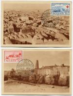 ALGERIE CARTES MAXIMUM DES N°300/301 AU PROFIT DES OEUVRES DE LA CROIX-ROUGE OBLITERATION 1er JOUR ALGER 15.XI.1952 - Cartes-maximum