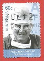 AUSTRALIA USATO - 2012 - MEDICI - Fred Hollows - Ophthalmologist - 0,60 $ - Michel AU 3727 AUTOADESIVO - Usati