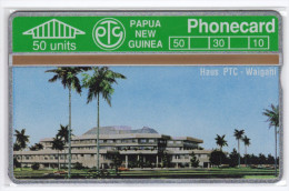 PAPOUASIE NOUVELLE-GUINEE TELECARTE 50U HOUSE PTC WAIGANI  CN 112B MINT - Papua New Guinea