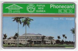 PAPOUASIE NOUVELLE-GUINEE TELECARTE 25U HOUSE PTC WAIGANI  CN 112A MINT