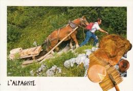Petit Metier De Chez Nous - L'alpagiste ( Cheval, Luge, Traineau, Fromage, Opinel ) - Craft