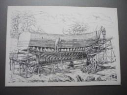 Henri Touleron Construction D'un Bateau De Pêche - Unclassified