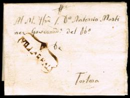 CASTELLON PREF. - VILLAREAL PE 3N - 1822 CARTA FECH. EN VILLAREAL Y CIRC. TORTOS - España