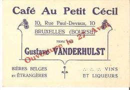 """Bruxelles  -  Café Au Petit Cécil - 10 Rue Paul Devraux - """"1900"""" - Autres Collections"""