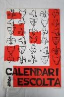 Vintage 1964 Big Wall Calendar - Boy Scouts of Catalonya/ Spain - Scouting - 24 x 34 cm