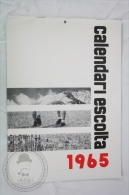 Vintage 1965 Big Wall Calendar - Boy Scouts of Catalonya/ Spain - Scouting - 24 x 34 cm