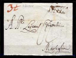 Napoli-00021 - Piego Del 5 Luglio 1788 - Bollo Con Caratteri Corsivi Maiuscoli Intrecciati. - ...-1850 Préphilatélie