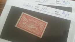 LOT 246955 TIMBRE DE FRANCE NEUF* N�119 VALEUR 65 EUROS SIGNE CALVES