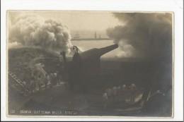 Carte Photo Militaria : Genova - Batteria Della Strega (Italie) - Matériel
