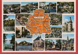 36 - Carte Contour Géographique Du Département De L'INDRE - Maps