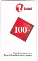 Moldova   Moldavie  Moldau ,  Prepaid Phonecard -  Unlte  ,  100 Lei , 2011 , Tipe I , Paper , Used - Moldova
