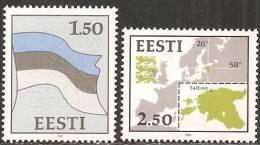 Estonia 1991 Nuovo** - Yv.188/89   Mi.174/75 - Estonia
