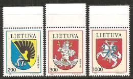 Lituania 1992/93 Nuovo** - Mi. 505/07; 511/13 - Lituania