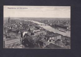 AK  Magdeburg - Vom Dom Gesehen ( Feldpost Guerre 1914 1918 Cachet Hilfslazarett Konzerthaus ) - Magdeburg