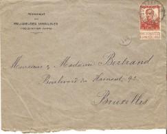 Belgique - Enveloppe TP 118 Hoogstraen Bruxelles + Cachet Facteur + Oblit 1912 - 1912 Pellens