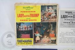 Vintage Walt Disney View Master Views - 2 Stereoscopic Views Discs: Lady & The Tramp And Pinocchio - Fotos Estereoscópicas