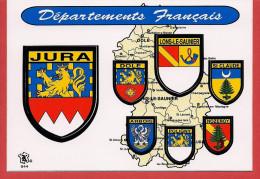 39 - Carte Contour Géographique Du Département Du JURA - Carte Geografiche