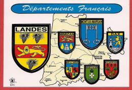 40 - Carte Contour Géographique Du Département Des LANDES - Carte Geografiche