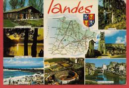 40 - Carte Contour Géographique Du Département Des LANDES - Landkarten