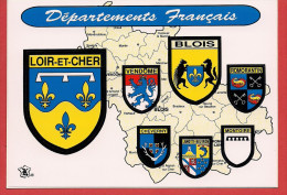 41 - Carte Contour Géographique Du Département Du LOIR ET CHER - Maps