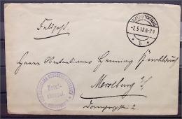 """Feldpost-Brief mit Briefstempel """"Der Kaiserlich Deutsche Kreischef - CZENSTOCHAU"""" und Tagesstempel 7.5.1917"""