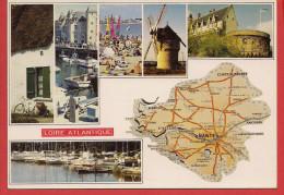 44 - Carte Contour Géographique Du Département De LA LOIRE ATLANTIQUE - Landkaarten