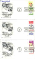 USA 1980 Mi 1421-1426 FDC- town halls, flowers, letters, day's of the stamp