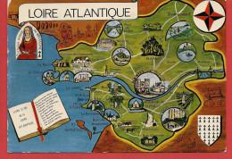 44 - Carte Contour Géographique Du Département De LA LOIRE ATLANTIQUE - Maps