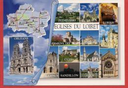 45 - Carte Contour Géographique Du Département Du LOIRET - Cartes Géographiques