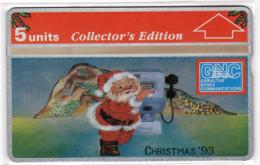 GIBRALTAR MERRY CHRISTMAS 1993 REF MVcards GIB-33 5U PERE NOEL MINT - Gibraltar