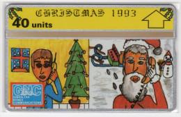 GIBRALTAR MERRY CHRISTMAS 1993 REF MVcards GIB-34  40U PERE NOEL MINT - Gibraltar