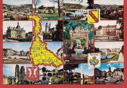 54 - Carte Contour Géographique Du Département De LA MEURTHE ET MOSELLE - Landkarten