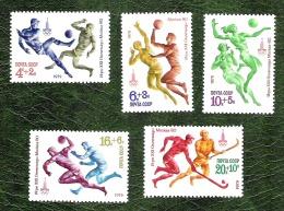 RUSSIE - YT N°4604 à 4608 - Préolympiques De Moscou / Sports - 1979 - Neufs - Nuovi