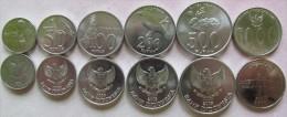 Indonesia set of 6 coins 1994-2010 (25+50+100+200+500+1000 rupiah) UNC