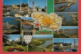 56 - Carte Contour Géographique Du Département Du MORBIHAN (Lorient) - Cartes Géographiques