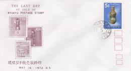 Japan Ryukyu  1972 Philatelic Week FDC - FDC