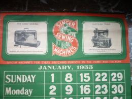 1933 machines � coudre SINGER 12 feuillets avec  chacun 2 mod�les diff�rents de machines format 35x30