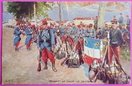 Cpa Publicité Biscuits Olibet Carte Postale Guerre De 1914 Pendant La Halte Le Drapeau - Pubblicitari