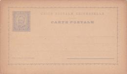 Portugal Postal Card 20 Reis Black Mint - Postal Stationery