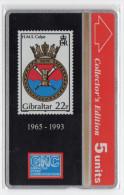 GIBRALTAR REF MVcards GIB-23 5U HMS CALPE Royal NAVAL MILITARY MINT - Gibraltar