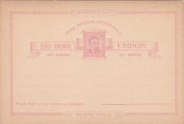Portugal Sao Thome Postal Card 20 Reis Mint - Postal Stationery