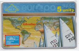 GIBRALTAR REF MVcards GIB-43 5U  WORLD RALLY DE YACHTING MINT 3000 Ex - Gibraltar