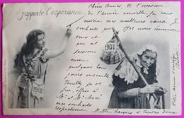 Cpa J' Apporte L' Espérance 1901 Carte Postale Bergeret Nancy Nouvel An - Bergeret
