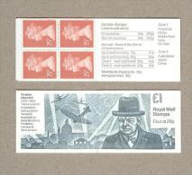 Great Britain MACHIN Booklet - Minister WINSTON CHURCHILL - Plain Booklet - Carnets