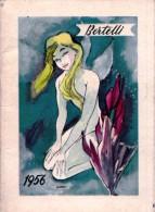 Calendarietto Bertelli Milano 1956 illustrato da Franz Marangolo. Calendario.