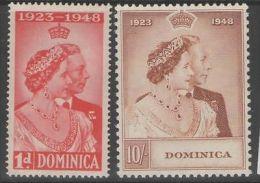 DOMINICA SG112/3 1948 SILVER WEDDING MTD MINT