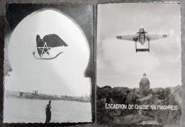 Photographie Carte Postale Fabrication Locale - Guerre Algérie - De Havilland Vampire  Escadron Chasse 1/8 Maghreb - Guerres - Autres