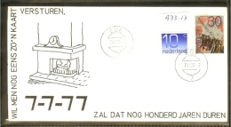 1977 - Netherlands Cover - This Date Will Last Another 100 Years [A73_17] - Postal History
